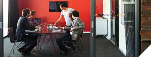 business people in modern conference room