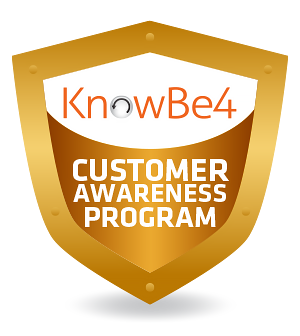 KnowBe4 logo for customer awareness