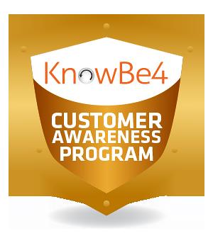 KnowBe4 logo for customer awareness
