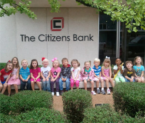 4 year old pre K class from First Baptist Church