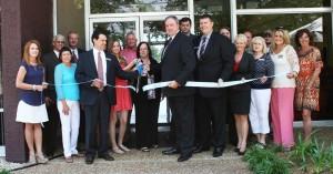 Biloxi Lemoyne Branch Grand Opening with employees at ribbon cutting