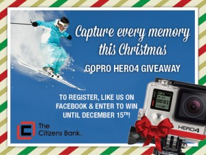 Capture Every Memory this Christmas. Gopro Hero4 Giveaway