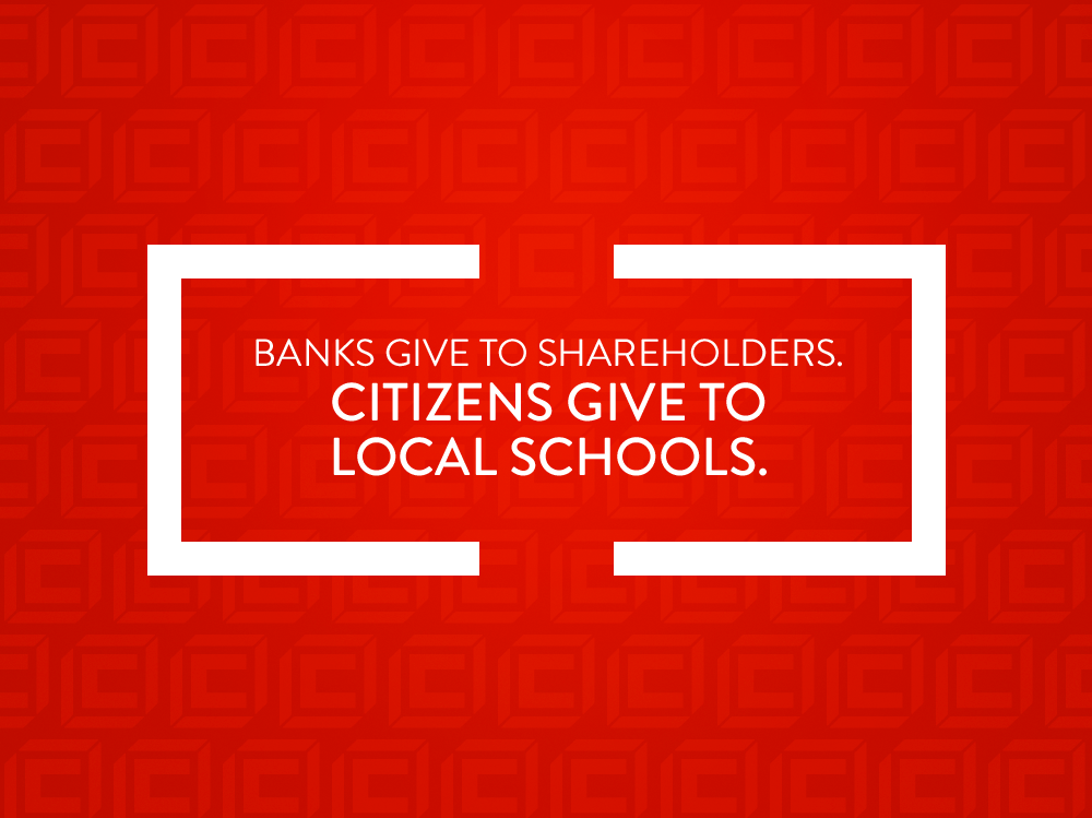 CITIZENS.  WHERE BANKING COMES TO LIFE